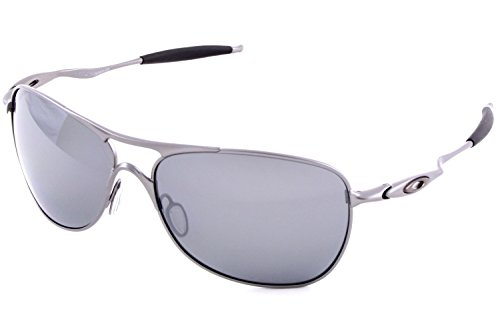 Oakley Mens Crosshair Sunglasses (OO4060) Silver/Black Metal - Polarized - - Mens Sunglasses Dress
