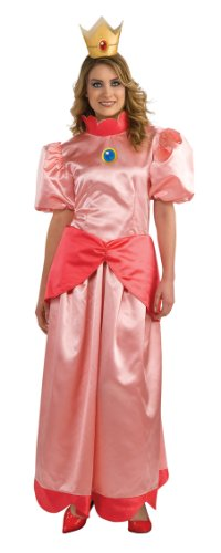 Super Mario Princess Peach Adult Costume Size: Large