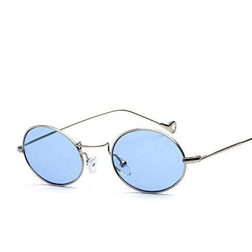 Aoligei Art petit frais de lunettes de soleil petite boîte ronde visage visage ombre lunettes femme marée-lunettes de soleil D