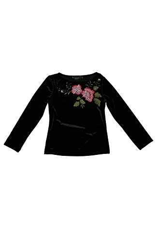 Biscotti Girl's 7-16 Midnight Garden Top, Black - 10