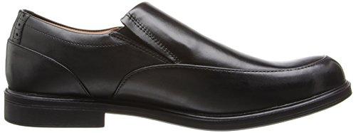 Clarks Mens Gabson Steg Slip-on Loafer Svart Läder