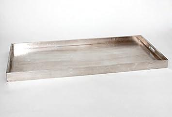 Tablett Holz Design design tablett holz mit aluminium bespannt serviertablett feste