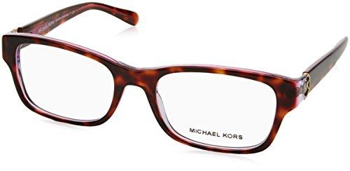 Michael Kors RAVENNA MK8001 Eyeglass Frames 3003-53 - Tortoise/Pink/Purple - Michael Glass Kors Eye Frames