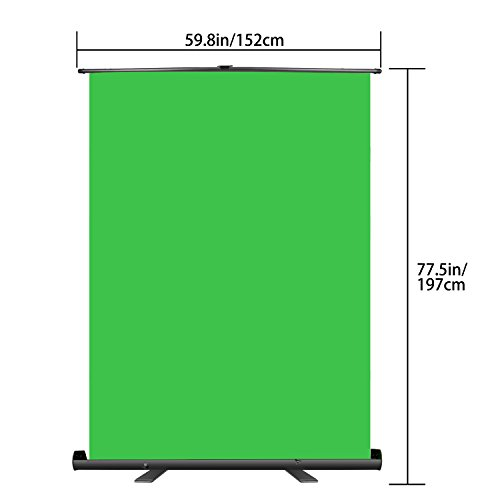 Neewer Green Screen Backdrop, Pull-up Style, Portable