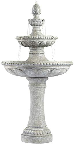 Outdoor Italian - John Timberland Pineapple Italian Outdoor Floor Water Fountain 44