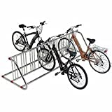 Grid Bike Rack, Double Sided, Powder Coated Galvanized Steel, 18-Bike Capacity