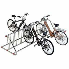 Grid Bike Rack, Double Sided, Powder Coated Galvanized Steel, 18-Bike Capacity by Global Industrial