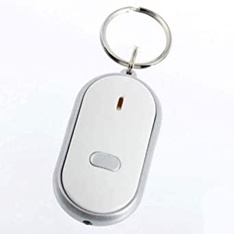 LED Light Key Finder Locator Find Lost Keys Chain Keychain Whistle Sound Control