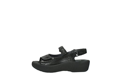 Wolky Canals Sandals Leather 70000 Black Jewel Womens 3204 q0rwzqvZ