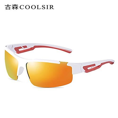 Aire de Hombre nbsp;Espejo Libre Montañismo White Sol Gafas Rojo de equitación Gafas frame Conducción sunglasses de Deportivas nbsp; Marco al de Gafas Mjia Sol polarizadas TqAOwA