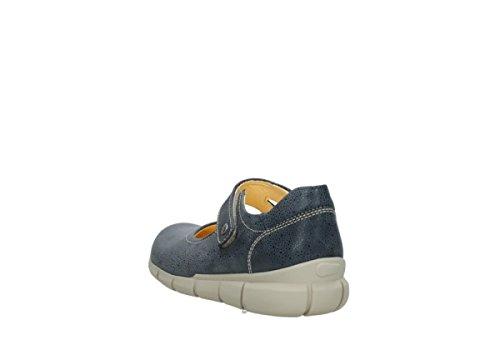 Kiowa dots nubuck Mary Janes Wolky denim blue 90820 Comfort 4aZTt