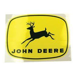 "Decal- John Deere Leaping Deer on Yellow 4"" x"