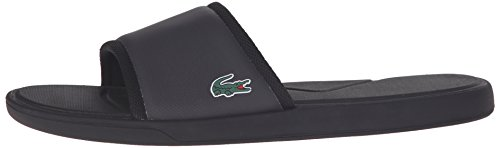 Lacoste Men's L.30 Slide Sport Flip-Flop Fashion Sneaker, Black, 11 M US