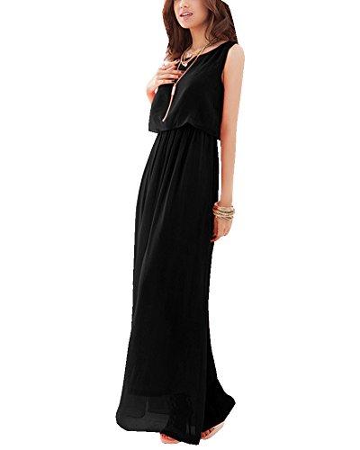 Kleid lang schwarz chiffon