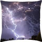 magnificent lightning storm in lago ranco chile - Throw Pillow Cover Case (18