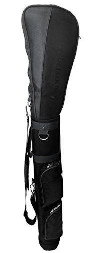 CaddyDaddy Golf Ranger Grey Ranger Carry Sunday Range Travel Bag, Black/Silver (Bag With Stand Carry Golf)