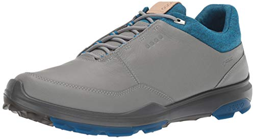 ECCO Men's Biom Hybrid 3 Gore-TEX Golf Shoe, Wild Dove Yak Leather, 11 M US