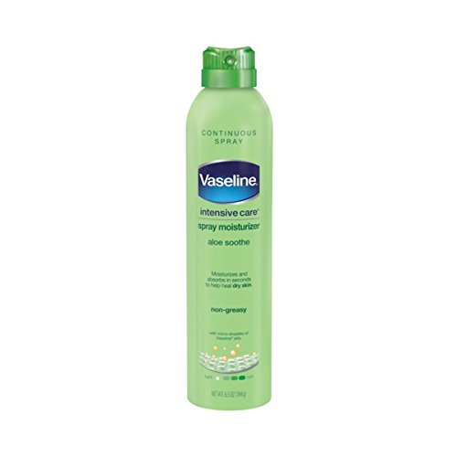 (Vaseline Intensive Care Spray Moisturizer, Aloe Soothe 6.5 oz, Twin Pack)