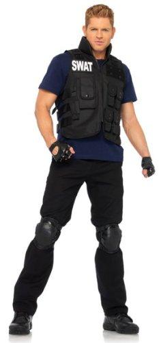 Leg Avenue Men's 4 Piece SWAT Costume, Black, One Size for $<!--$28.68-->