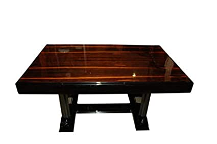 Amazon.com: OAM Art Deco Dining Table Palisander Table Top ...