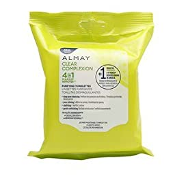 Almay Clear Complexion 4 in 1 Makeup Remover, 25 Pre-Moistened Towelettes (Pack of 2)