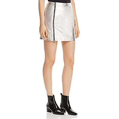 French Connection Womens Audrey Metallic Night Out Mini Skirt