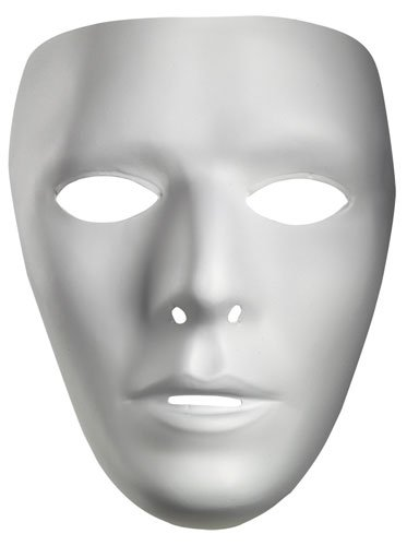 Halloween Costumes Jabbawockeez Mask (Male Blank No Face Plastic)