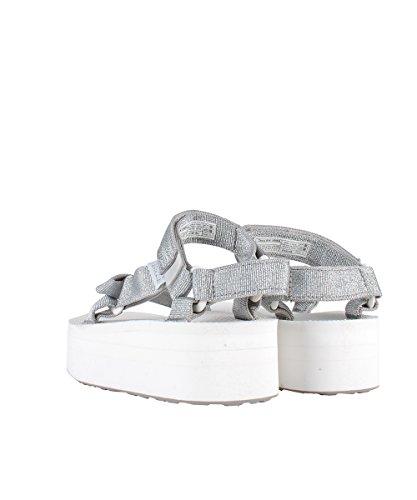 Teva Flatform Universal Bright White Sandals–Sandalen Silber Silber