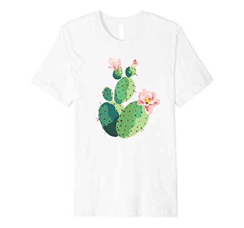 Beautiful Cactus Tree Pink Flowers Hand Drawn Painting - Trees Flowers Pink