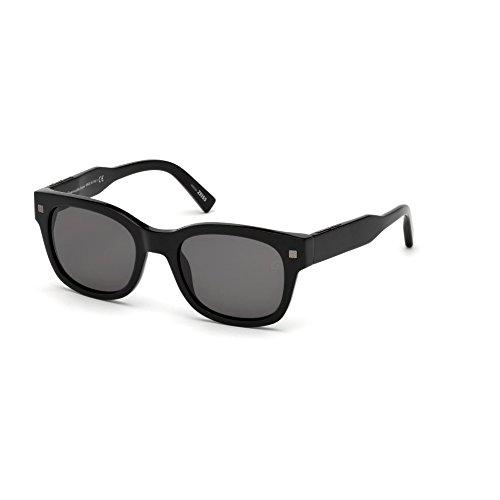 Ermenegildo Zegna schwarz glanz Sonnenbrille EZ0087 81r8q