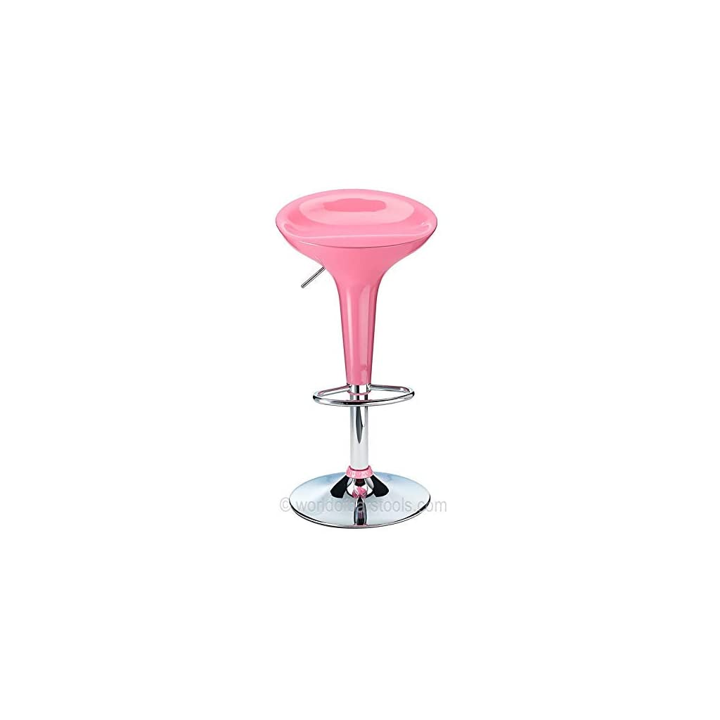 Costantino Bombay Bar Stool Hot Pink