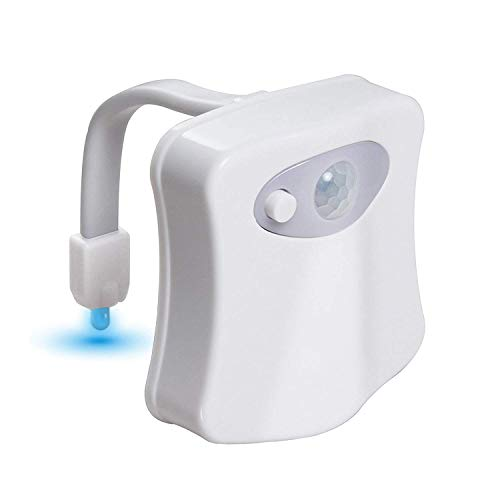 Atych-Toilet Night Light,Advanced 8-Color Motion Sensor LED Toilet Light,Easy Installation,Fits Any Toilet