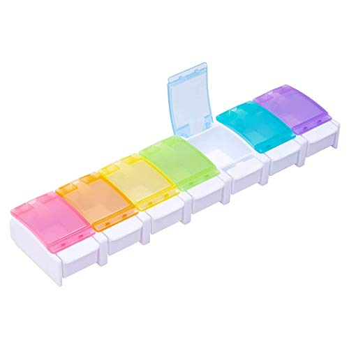 ️ Yu2d ❤️❤️ ️Pill Box 7 Day Medicine Tablet Dispenser Organizer Weekly Storage Case Extra Large]()