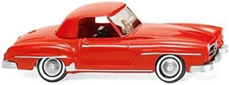 Wiking HO 025301 MB 190 SL Coupé, verkehrsrot - Kein Spielzeug!! Miniaturmodell/Sammlerartikel !!