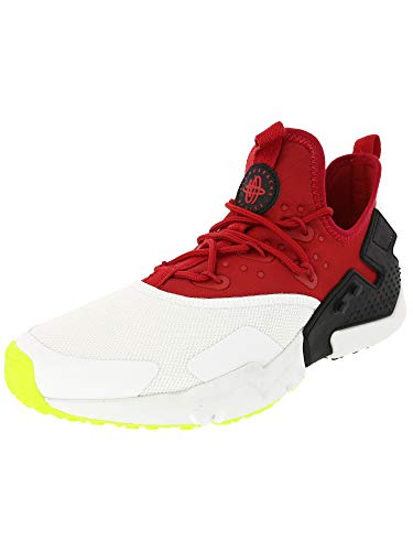 Air Volt - Nike Men's Air Huarache Drift Gym Red/White-Black Volt Mid-Top Mesh Running Shoe - 10M