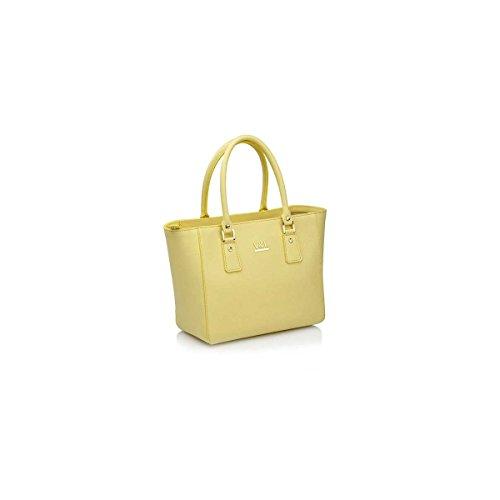 Victorio & Lucchino Shopping Bag Woman Yellow Skin 10527