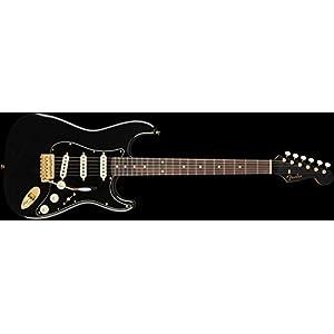 Fender MIJ Traditional Stratocaster – Midnight, Gold Hardware