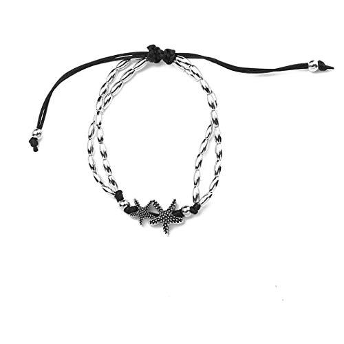 erholi Women Fashion Multi-Layer Star Shape Knot Anklet Bracelets Jewelry Gift Anklets from erholi