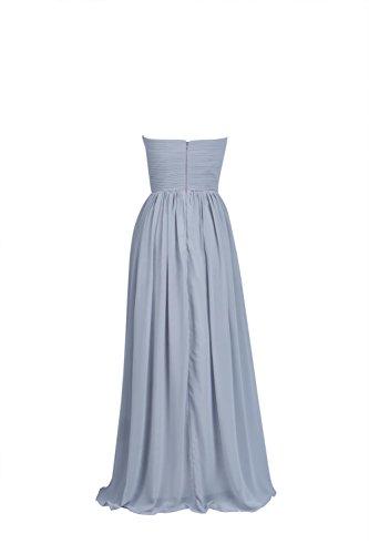 YiYaDawn Langes Brautjungfernkleid Cocktailkleid Festkleid für Damen Königsblau UXRURjG4
