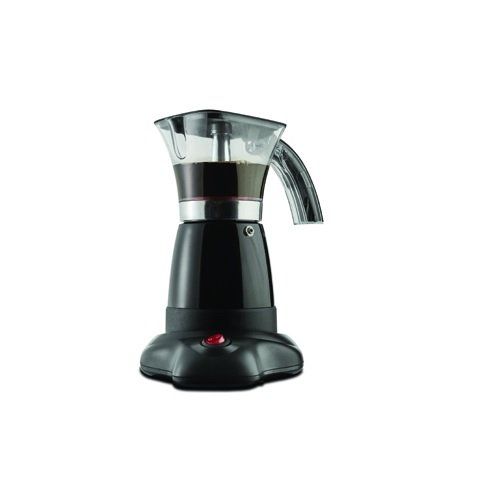 Brentwood Electric Pot Espresso Machine Appliances TS-118BK Moka Expresso Maker, 6-Cup, Black