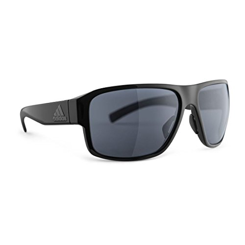 adidas Jaysor Rectangular Sunglasses, Black Shiny, 60 mm (Adidas Sports Sunglasses)