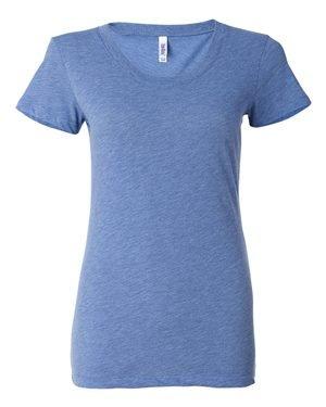 Bella B8413 Ladies Cameron Tri-Blend T-Shirt - Ath Blue Trblnd New - XL