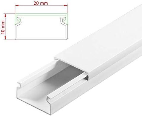 SCOS Smartcosat AVC-217 19m Kabelkanal Wei/ß zum verschrauben 19x 100cm 20x10mm Deckenkanal bestehend aus Unterteil und Oberteil zur Montage direkt auf der Wand