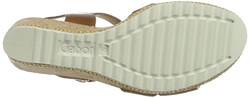 Gabor Shoes Fashion, Sandalias con Cuña para Mujer Marrón (peanut Kork)