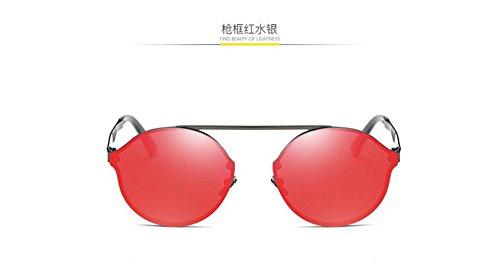 red mercury caja LSHGYJ gafas moda sol redonda Gafas GLSYJ sol box metal coloridos sol Gun de film de de gafas qY4HUq