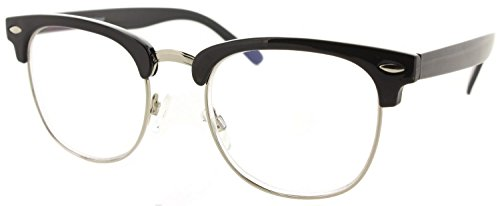 Fiore Multi Focus Progressive Reading Glasses 3 Powers in 1 [Preppy - Black, 1.50] ()