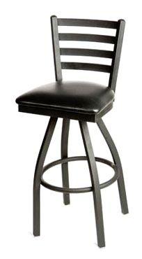 Oak Street Swivel Bar Stool metal ladder back seat to be specified black – SL2301-S