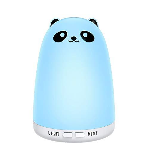 Homasy Essential Oil Diffuser, 160ml Adorable Panda-Look Ult