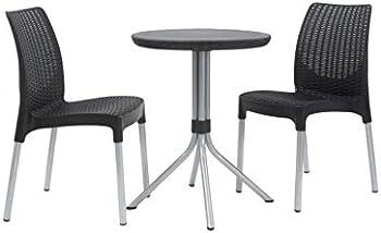 Keter 3-Piece Patio Furniture Dining Bistro Set