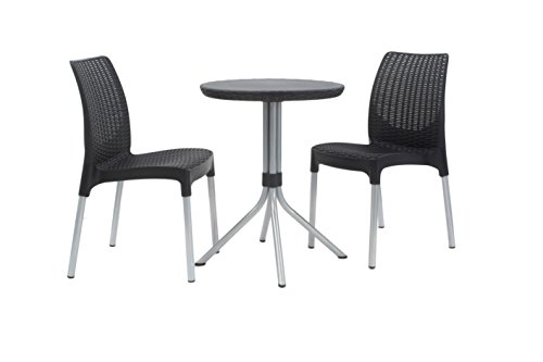 piece resin outdoor patio furniture dining bistro set table chairs charcoal indoor and for sale with arms